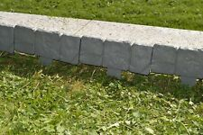 (2,0/m) - 20m Rasenkante Beeteinfassung Mähkante Beetumrandung Erdspieß grau