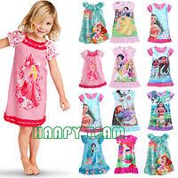 Filles Enfants Cartoonnightie Vêtements de Nuit Chemise Pyjama Robe 2-13years