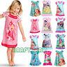 Girls Kids Nightdress Nightwear Disney Cartoon Pyjamas Summer Sleepwear Dresses