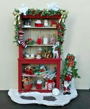 Dollhouse Miniature Handcrafted Christmas Cupboard Gifts Sleigh Gingerbread 1:12
