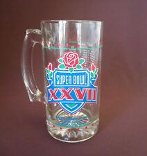 SUPER BOWL XXVII 27 Rose Bowl 1993 DALLAS COWBOYS over BUFFALO BILLS Glass Mug