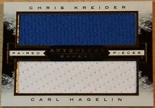 2014-15 PANINI ANTHOLOGY HOCKEY - CHRIS KREIDER & CARL HAGELIN PAIRED PIECES