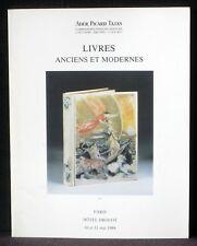 Catalogue Ader Picard Tajan mai 1989 Livres anciens et modernes NM -