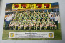 #OO.   #11.   TEN (10)  RUGBY LEAGUE  TEAM & PLAYER PINUPS -  CANBERRA RAIDERS