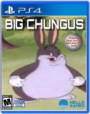 Big Chungus PS4 Case WITH DISK prop! *MEME ORIGINAL*