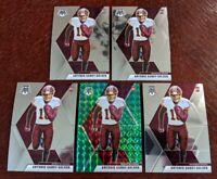LOT (5) 2020 Mosaic NFL Football Antonio Gandy-Golden Green Redskins RC