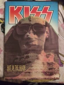 KISS tour book Hot in the Shade 1990 program Eric Carr Gene Simmons Paul Stanley
