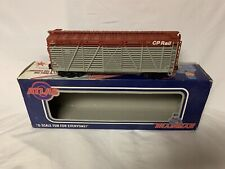 ✅ATLAS O 3 RAIL CANADIAN PACIFIC 40' STOCK CATTLE CAR 0607-1! O SCALE TRAIN CP