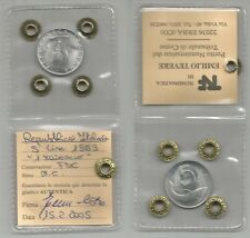 ITALIA REPUBBLICA - 5 Lire 1969  1 rovescio  FDC  periziata (1)