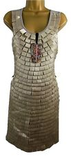 *NEW*  VERO MODA JEANS SIZE 12 GATSBY STYLE RIBBON FRINGE LADIES DRESS ALUMINIUM