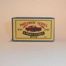 Matchbox Lesney 27 c Cadillac Sixty Special empty Repro B style Box