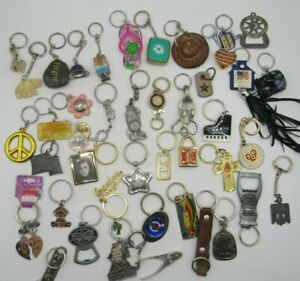 Vintage to Modern Keyring Lot Assorted styles, mixed lot GREAT HUGE lot