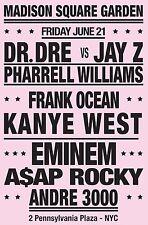 "Dr Dre / Jay z / Eminem 16"" x 12"" Photo Repro Concert Poster"