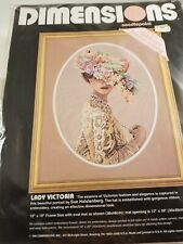 Vintage 1994 Dimensions Lady Victoria  Needlepoint Ribbon Embroidery Kit 2425