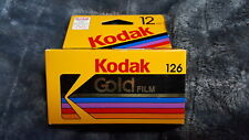 KODAK GOLD 126 FILM 12 Exp, ISO 200, Color Prints Cartridge, 02/1994, Unopened