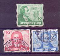 Berlin 1949 - Goethe - MiNr. 61/63 rund gestempelt - Michel 180,00 € (401)