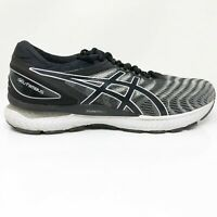 Asics Mens Gel Nimbus 22 1011A680 Black Gray Running Shoes Lace Up Size 10.5