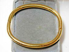 Vintage Gold Tone Thin Bangle Bracelet Magnet Clasp 7a 34