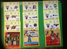 1997 SEASON CHICAGO BULLS (9) Ticket stubs  Michael Jordan/ Last Dance