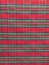 RED MULTICOLOR METALLIC PLAID TAFFETA FABRIC (60 in.) Sold By The Yard