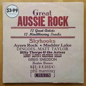 GREAT AUSSIE ROCK - VARIOUS AUSTRALIAN ARTISTS - ORIGINAL 1975 VINYL LP - GREAT