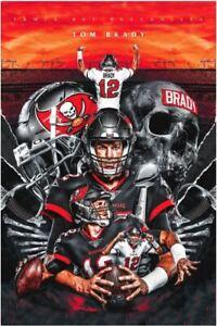 Men's Tom Brady1 Tampa Bay Buccaneers2 Football Poster 11x17 16x24 24x36