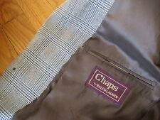 vintage Ralph Lauren Chaps SPORT COAT blazer jacket black tan houndstooth 39 R