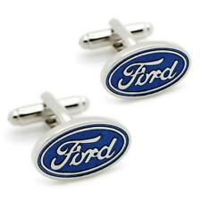 FORD CUFFLINKS Car Emblem Logo NEW w GIFT BAG Pair Wedding Groom Men's Accessory
