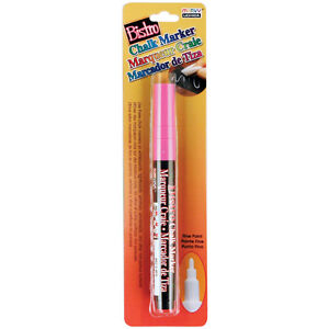 Bistro Chalk Marker Fine Point 1/Pkg-Fluorescent Pink Marvy