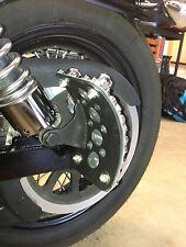 VRod DYNA Curved Harley License Plate Bracket SHOCK MOUNT side tag holder 62017