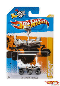Hot Wheels 2012 Mars Rover Curiosity (U.S. Card) RARE SOLD OUT