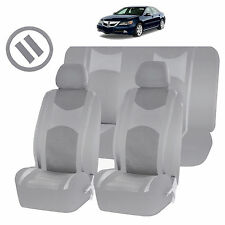 ALL GRAY MESH NET SEAT COVERS AIRBAG READY SPLIT BENCH 9PC SET FOR CARS 1444