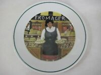 "Guy Buffet L'etalage Collection ""The Cheese Lady"" Plate, 7 3/4"" D, Made In Japan"