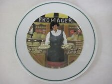 """Guy Buffet L'etalage Collection """"The Cheese Lady"""" Plate, 7 3/4"""" D, Made In Japan"""