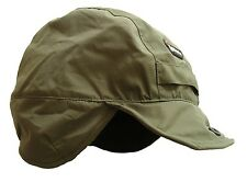 GENTS WATERPROOF WINDPROOF MOUNTAIN HAT OLIVE mens winter fleece inner hike cap