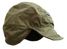 GENTS WATERPROOF WINDPROOF MOUNTAIN HAT OLIVE mens winter fleece inner hike cap