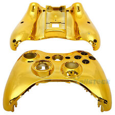 New Wireless Controller Case Shell Cover for XBox 360 Plating Gold