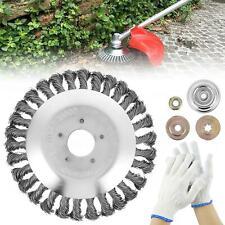 More details for 8 inch grass strimmer head trimmer brush steel wire wheel garden weed trimmer uk