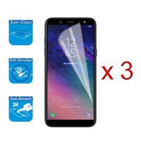Pour Samsung Galaxy A6 2018 Écran Protecteur de Capot LCD Feuille Film X 3