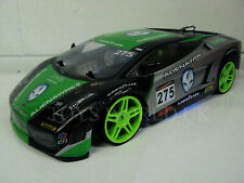 LARGE FAST LAMBO SPORTS DRIFT 4WD RC REMOTE CONTROL CAR 1/10 GREEN RECHARGEABLE