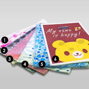 50 x Coloured Plastic Carrier Bags 35/25 cm Strong Gift Shop Handle Bag Retail