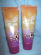 """BATH & BODY WORKS NEW """"FOREVER SUNSHINE"""" DISCONTINUED BODY CREAM LOT OF 2"""