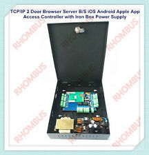TCP/IP Two Door Browser Server B/S iOS Android Apple App Access Control w/Power