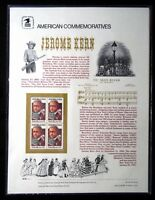 U.S. Stamps 1985 JEROME KERN USPS American Commemorative Panel Series #237