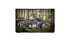 1916 Indian Power Plus Bike Motorcycle A4 Retro Metal Sign Aluminium