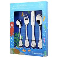 100% Genuine! STANLEY ROGERS 4 Piece Children's Cutlery Set Sea Animals!