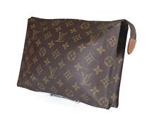 LOUIS VUITTON Monogram Canvas Leather Pouch Accessories Clutch Bag LP2773