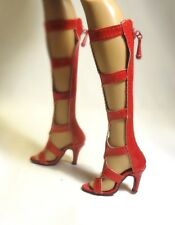 """Saucy Red High shoes for Tyler Sydney or Similar 16"""" Tonner Doll."""
