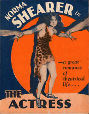The Actress Original  Movie Herald from the1928 Movie staring  Norma Shearer
