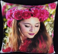 Personalised Cushion Cover Large Printed Photo Gift Soft Warm Touch FLEECE